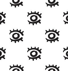 Eyes seamless pattern hand drawn vector image vector image
