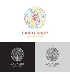 Logo of candy shop vector