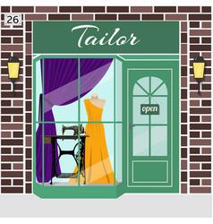 tailor shop building vector image vector image