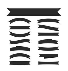 black ribbon banners set vector image