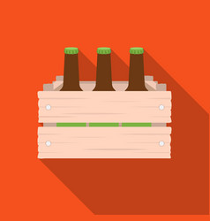 box with beer icon in flat style isolated on white vector image vector image