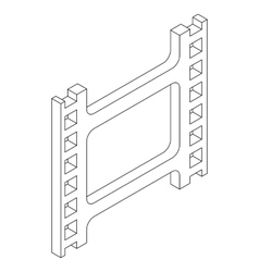 Film strip icon isometric 3d style vector image vector image