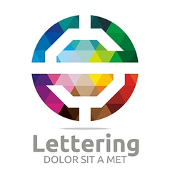Lettering s rainbow alphabet design vector