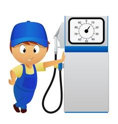man fuel pump vector image