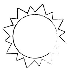 sun solar system astrology sketch vector image vector image