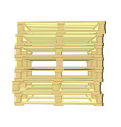 wooden pallets isolated on white vector image