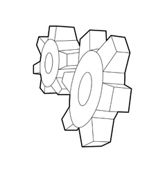 Cogwheels icon in outline style vector image vector image