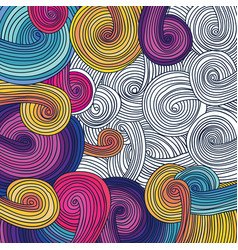 colorful linear wavy texture vector image vector image
