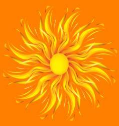 summer sun vector image vector image