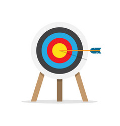 target arrow and bullseye symbol vector image vector image