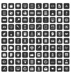 100 analytics icons set black vector