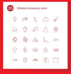 25 accessory icons vector