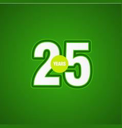 35 years anniversary green light template design vector