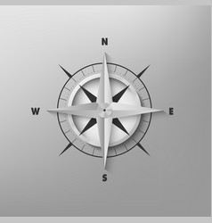 3d compass on a gray background vector