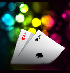 A combination playing cards for casino two vector