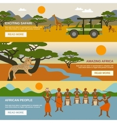 Africa Banners Set vector