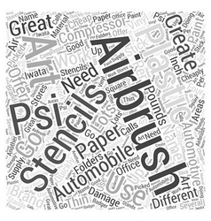 Airbrush art on automobiles word cloud concept vector