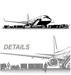 Airplane on aerodrome vector