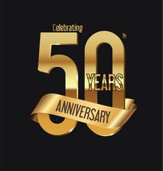 anniversary retro vintage badge 6 vector image