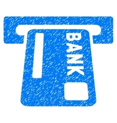ATM Terminal Grainy Texture Icon vector image
