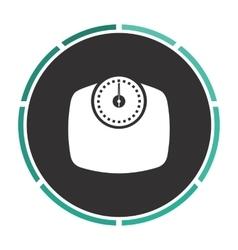 Bathroom scale computer symbol vector image