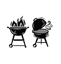 BBQ Grill icons vector