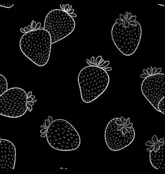 beautiful seamless pattern cartoon black and vector image