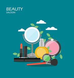 beauty saloon flat style design vector image