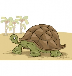 big turtle vector image