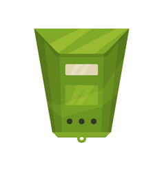 bright green postal box traditional wall mounted vector image