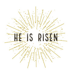 christ is risen stylish design vector image