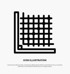 Color correction edit form grid line icon vector