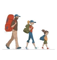 Colorful cartoon family vector