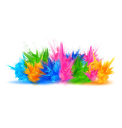 colorful happy holi background for color festival vector image