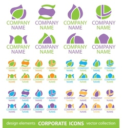 corporate icons vector image