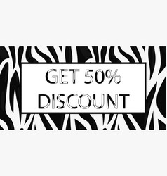 coupon with discount for shops vector image