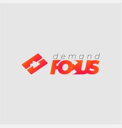 demand-focus vector image
