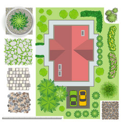 Detailed landscape design elements make your own vector