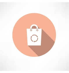 Eco bag with cycle icon vector