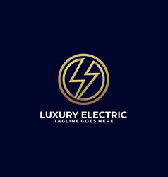 electric luxury template vector image