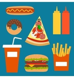 Fast food background concept vector