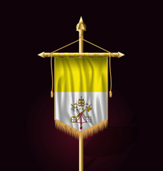 flag of vatican city festive vertical banner vector image