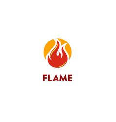 Flame fire logo vector