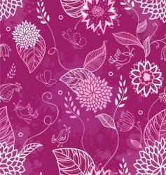 floral doodle pattern vector image
