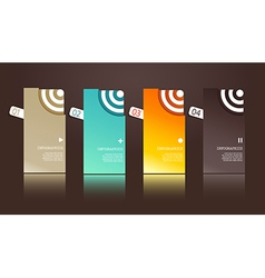Four separate gift cards with circles vector
