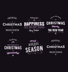 funny merry christmas happy new year season vector image