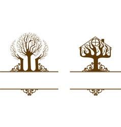 Garden house vector