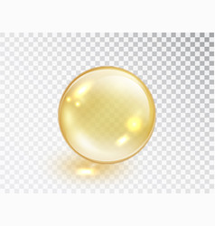 Gold oil bubble isolated on transparent background vector