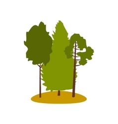 Green forest icon vector image
