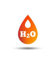 H2o water drop sign icon tear symbol vector